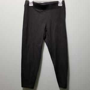 Pink size XS black capris pants